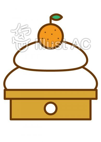 鏡餅の無料フリーイラスト素材