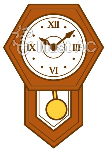振り子時計の無料フリーイラスト素材