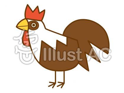 鶏の無料フリーイラスト素材