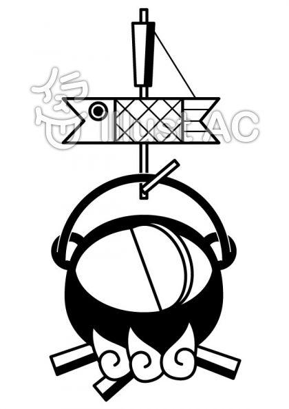 いろりの無料フリーイラスト素材白黒モノクロ