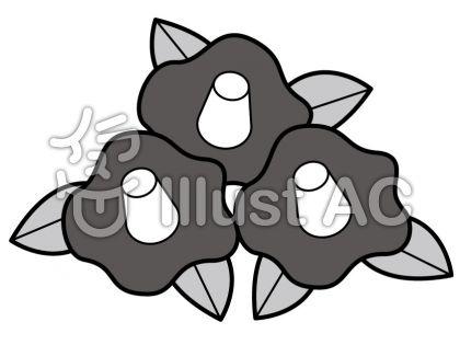 椿の無料フリーイラスト素材グレースケール