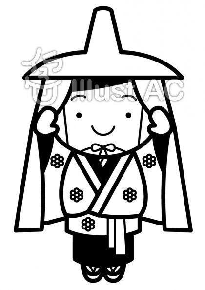 秋田小町の無料フリーイラスト素材白黒モノクロ