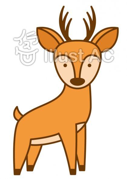 鹿の無料フリーイラスト素材