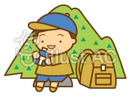 登山の無料フリーイラスト素材