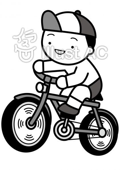自転車の無料フリーイラスト素材グレースケール