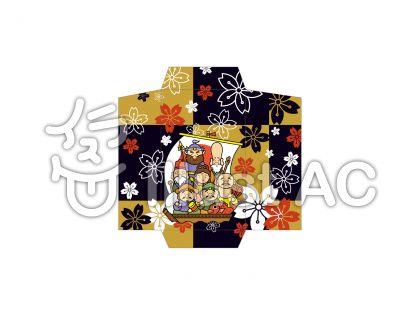 ぽち袋七福神の無料フリーイラスト素材