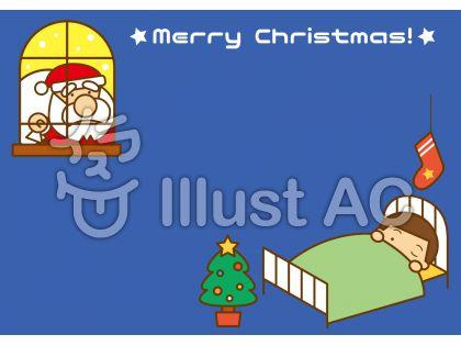 クリスマスフレームの無料フリーイラスト素材