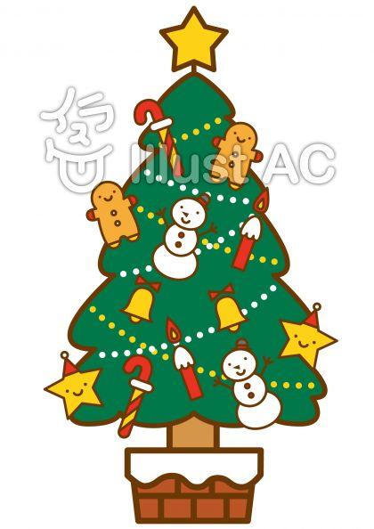 クリスマスツリーの無料フリーイラスト素材