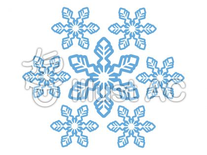 雪の結晶の無料フリーイラスト素材