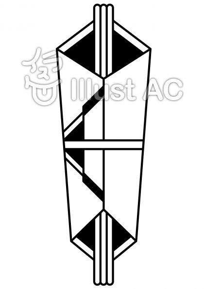 水引の無料フリーイラスト素材白黒モノクロ