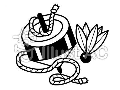 駒の無料フリーイラスト素材白黒モノクロ