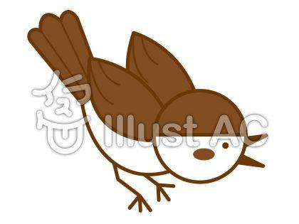 雀の無料フリーイラスト素材