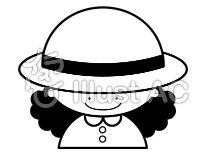 帽子の無料フリーイラスト素材白黒モノクロ