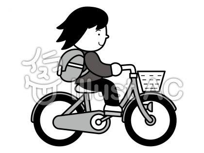 自転車2の無料フリーイラスト素材グレースケール