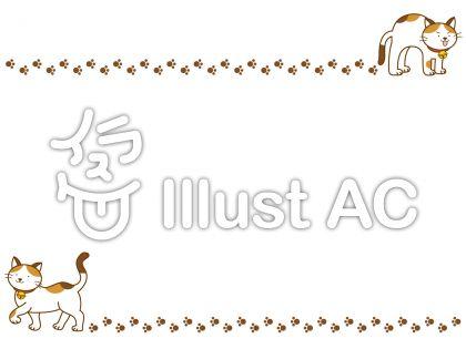 猫フレームの無料フリーイラスト素材