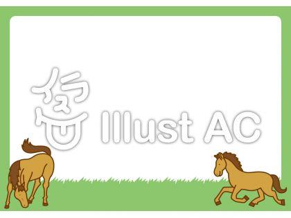 馬フレームの無料フリーイラスト素材