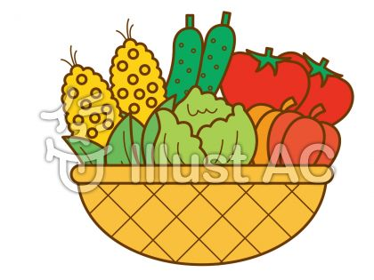 夏野菜の無料フリーイラスト素材