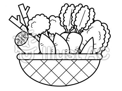 冬野菜の無料フリーイラスト素材白黒モノクロ