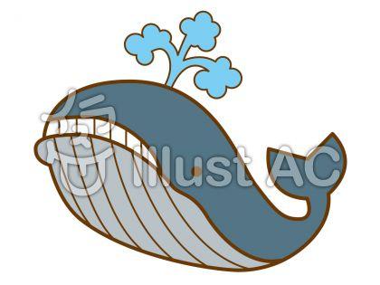 クジラの無料フリーイラスト素材
