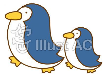 ペンギンの無料フリーイラスト素材