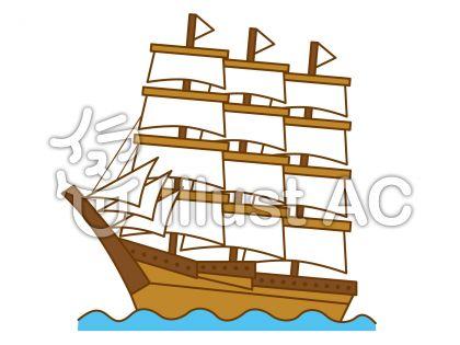 帆船の無料フリーイラスト素材