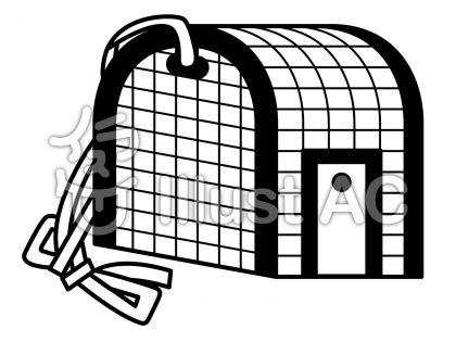 バスケットの無料フリーイラスト素材白黒モノクロ