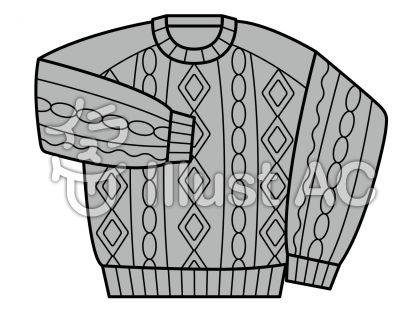 セーターの無料フリーイラスト素材グレースケール