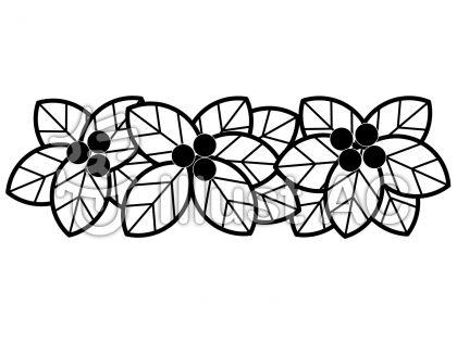 実と葉の無料フリーイラスト素材白黒モノクロ