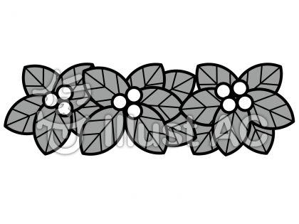 実と葉の無料フリーイラスト素材グレースケール