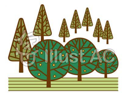 森の無料フリーイラスト素材