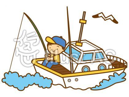 船釣りの無料フリーイラスト素材