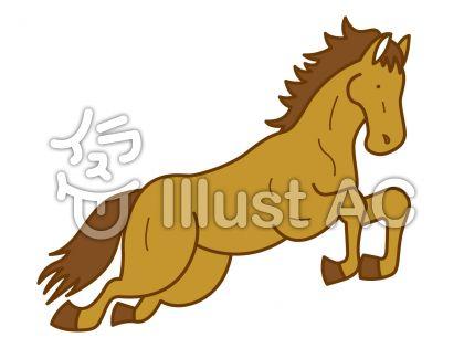 馬5の無料フリーイラスト素材
