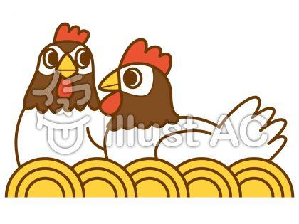 鶏1の無料フリーイラスト素材