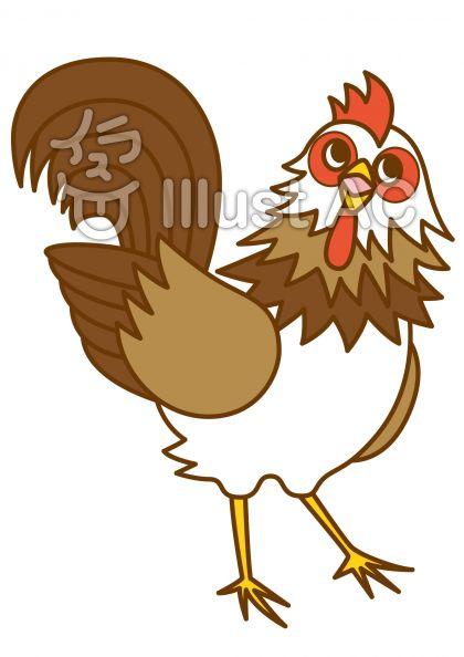 鶏4の無料フリーイラスト素材