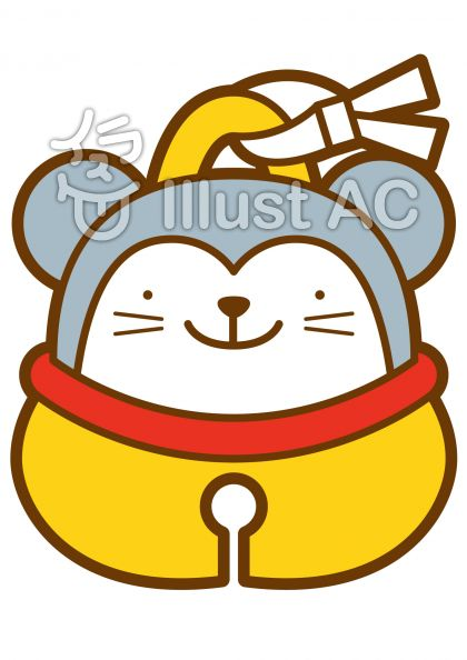 鈴-ネズミの無料フリーイラスト素材