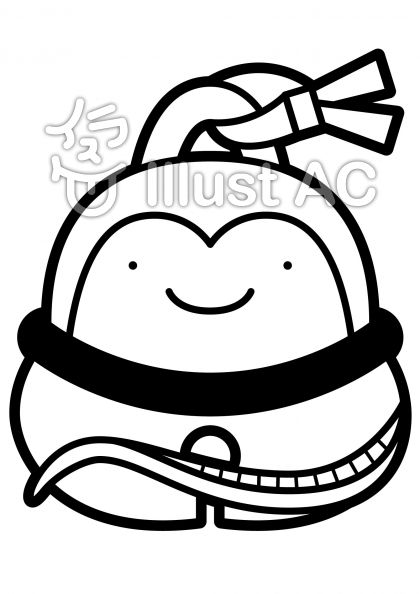 鈴-ヘビの無料フリーイラスト素材白黒モノクロ